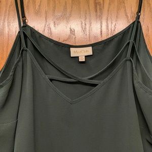 ADD-ON Forest Green Strappy Camisole